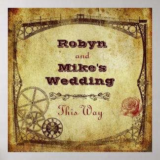 Viktorianische Steampunk Hochzeit: Dieses Poster
