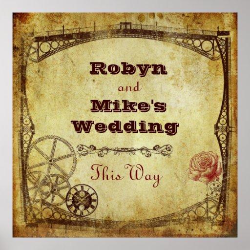 Viktorianische Steampunk Hochzeit: Dieses Weisen-Z Plakatdruck