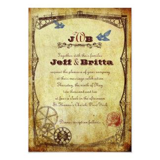 Viktorianische Steampunk Hochzeit Einladung