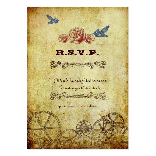 Viktorianische Steampunk Hochzeit UAWG Karte Jumbo-Visitenkarten