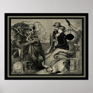 Viktorianische Steampunk Illustration 16x20 Jules Poster