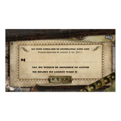 Viktorianische Steampunk lederne Hochzeit UAWG Visitenkarten Vorlagen