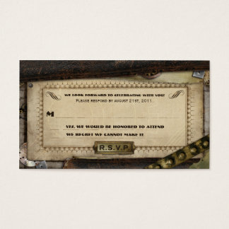 Viktorianische Steampunk lederne Hochzeit UAWG Visitenkarten