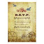 Viktorianische Steampunk UAWG Karte mit Umschlägen Personalisierte Einladung