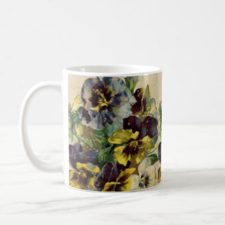 Viktorianische Stiefmütterchen-Kaffee-Tasse Kaffeetasse