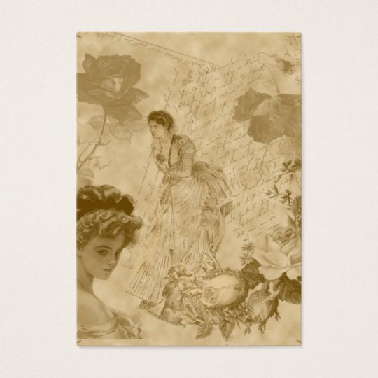 viktorianische Themed vertikale Jumbo-Visitenkarten