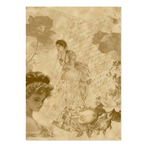 viktorianische Themed vertikale Mini-Visitenkarten