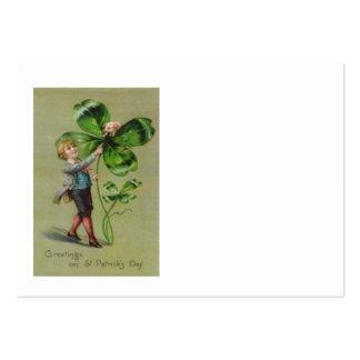 Viktorianische vierblättriges Kleeblatt Visitenkarte