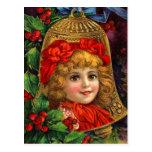 Viktorianische Weihnachtsbell-Postkarten Postkarten