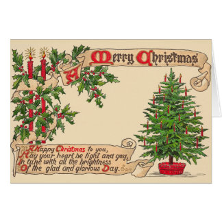 Viktorianische Weihnachtsgruß-Karte Karte