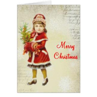 Viktorianische Weihnachtskarte Karte