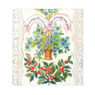 Viktorianische Weihnachtskarte Notizblock