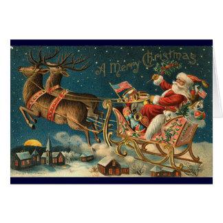 Viktorianische Weihnachtskarte - Sankt Karte
