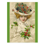 Viktorianische Weihnachtspostkarte Postkarten