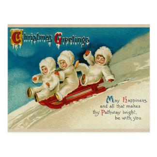 Viktorianische Weihnachtspostkarten Postkarte