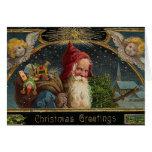Viktorianische Weihnachtssankt-Gruß-Karte