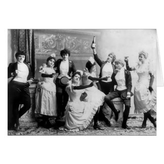 Viktorianische Widerstand-Damen Karte