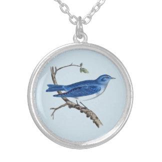 Viktorianischer blauer Vogel-runde Halskette