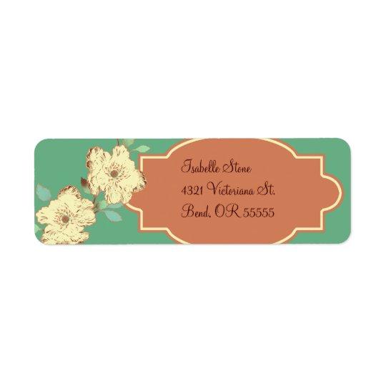 Viktorianischer BlumenRücksendeadresse-Aufkleber Rücksendeetikett