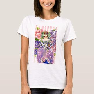 Viktorianischer Blumenwatercolor-Entwurf T-Shirt