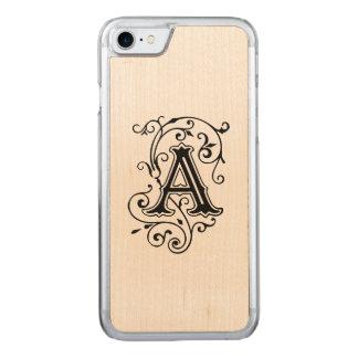 Viktorianischer Buchstabe A Carved iPhone 8/7 Hülle