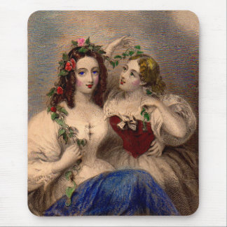 Viktorianischer Druck der TrennWreath Mousepad
