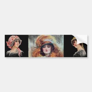 Viktorianischer Frauen-Autoaufkleber Autoaufkleber