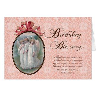 Viktorianischer Geburtstags-Segen Karte