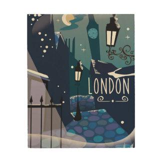 Viktorianischer London-Cartoon Holzleinwand