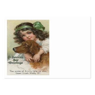 Viktorianischer Mädchen-HundegrünMolly Visitenkarten Vorlage
