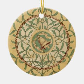 Viktorianischer Mistelzweig Rundes Keramik Ornament