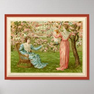 Viktorianischer Obstgarten in der Poster