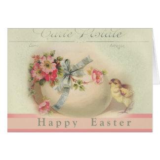 Viktorianischer Osternchic und Ei fröhliche Ostern Karte