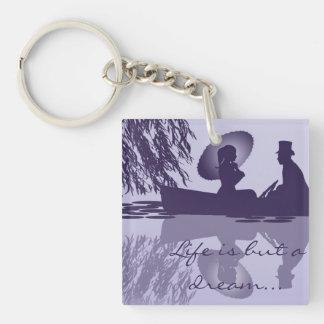 Viktorianischer Rowboat Keychain Schlüsselanhänger