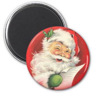 Viktorianischer Sankt-Magnet für die Feiertage Runder Magnet 5,7 Cm