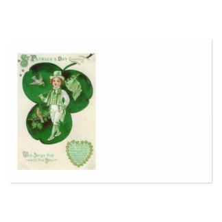Viktorianisches Jungen-Kleeblatt-irischer Mini-Visitenkarten