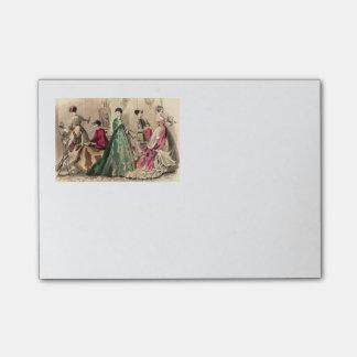 Viktorianisches Kleid mit rosa Bogen Post-it Klebezettel