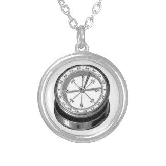Viktorianisches Kompass-Zeichnen Halskette Mit Rundem Anhänger