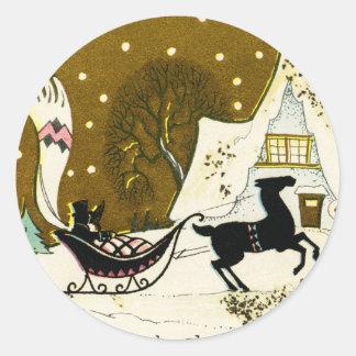 Viktorianisches Land-Weihnachtsrunder Aufkleber