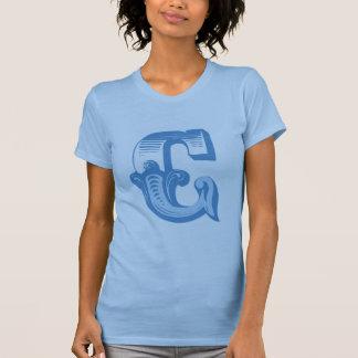 Viktorianisches Monogramm des Buchstabe-C T-Shirt