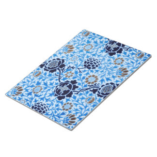 Viktorianisches Muster im Blau Notizblock