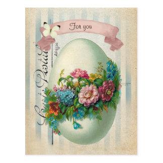 Viktorianisches Ostern-Blumen-Ei Postkarten
