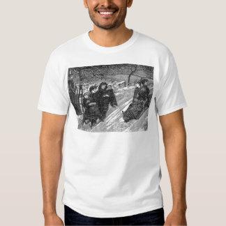 Viktorianisches Schlitten-Rennen-Vintager Shirt