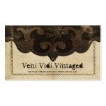 Viktorianisches Steampunk Leder u. Visitenkarten