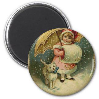 Viktorianisches Vintages Retro Kinder-und Runder Magnet 5,1 Cm