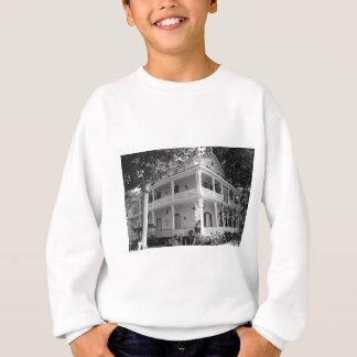 Viktorianisches Zuhause in Schwarzem u. im Weiß Sweatshirt