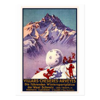 Villars Chesieres Arveyes Postkarte