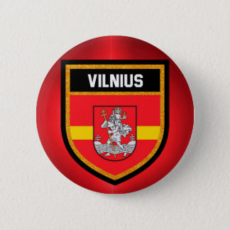 Vilnius-Flagge Runder Button 5,1 Cm