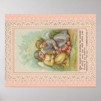 Vinatage Engelsplakat Posterdruck