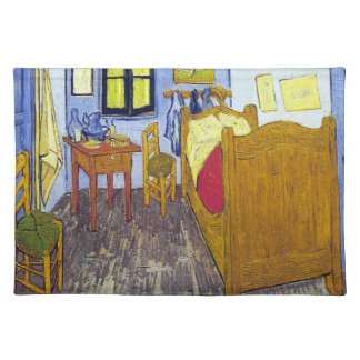 Vincent van Gogh 1888 das Schlafzimmer bei Arles Stofftischset